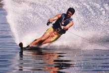 Water skiing in the Mountains